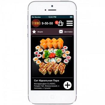 Мобильная версия сайта ресторана доставки «Токио»